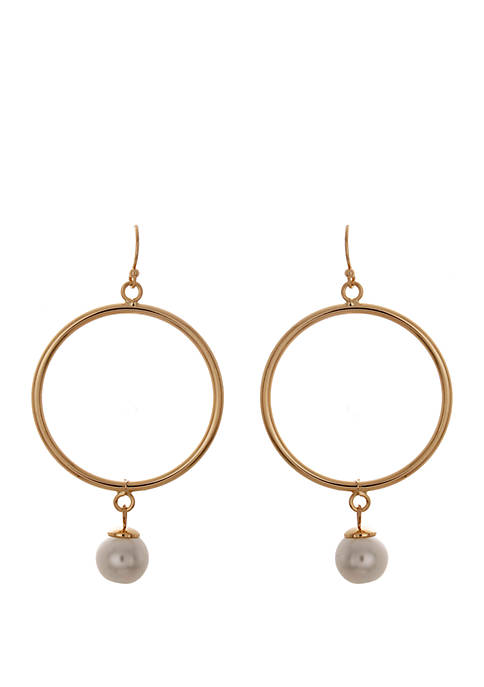 Crown & Ivy™ Hoop with Pearl Earrings