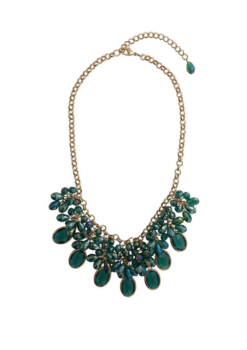 Crown & Ivy™ 18 Inch Bead Statement Green