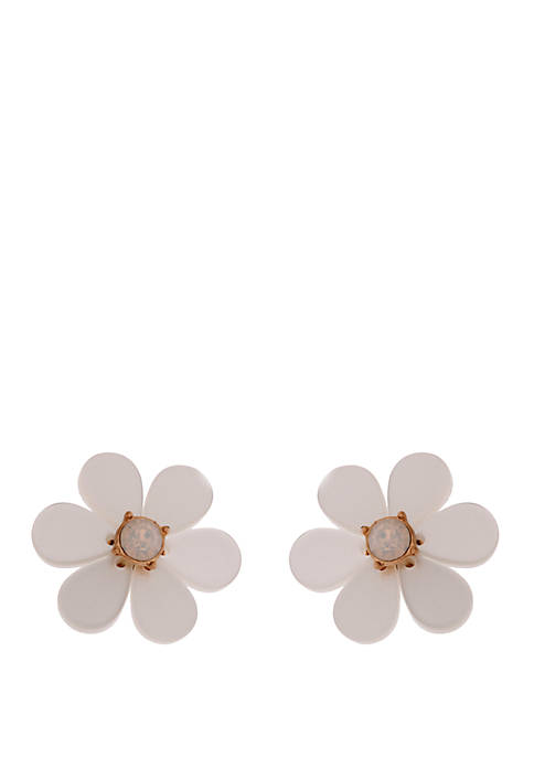 Crown & Ivy™ Acrylic Flower Stud Earrings