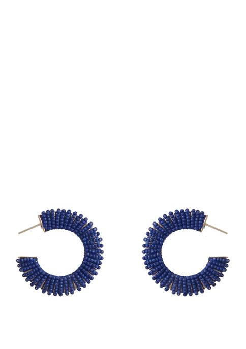 Crown & Ivy™ Seabeed Hoop Earrings