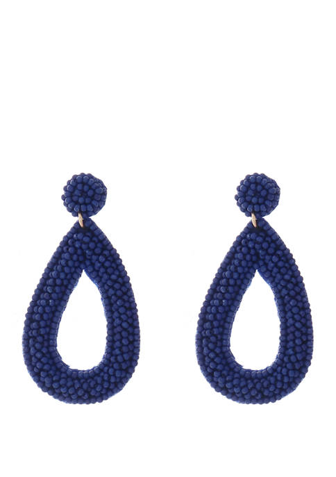 Crown & Ivy™ Seadbeed Teardrop Earrings