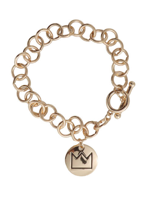 Crown & Ivy™ 7.5 Inch Crown Charm Gold