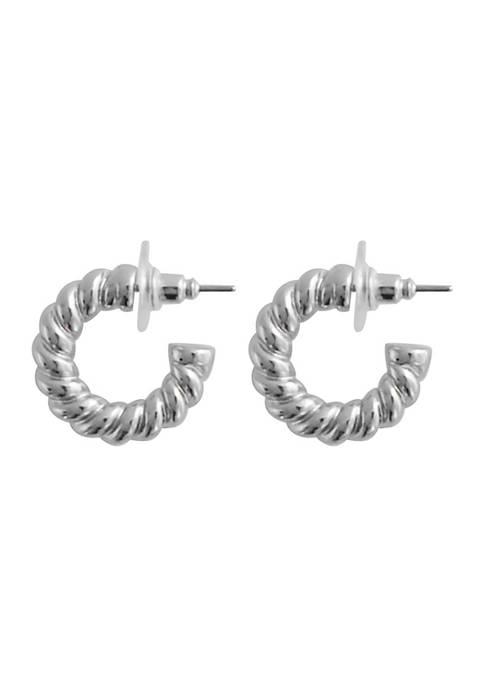 Crown & Ivy™ 20 Millimeter Rope Hoop Earrings