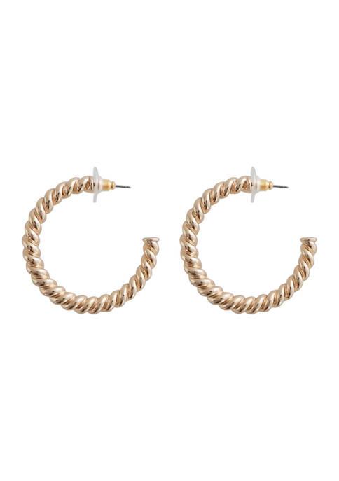 40 Millimeter Rope Hoop Earrings