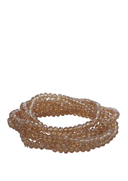 7 Piece Beaded Stretch Bracelet