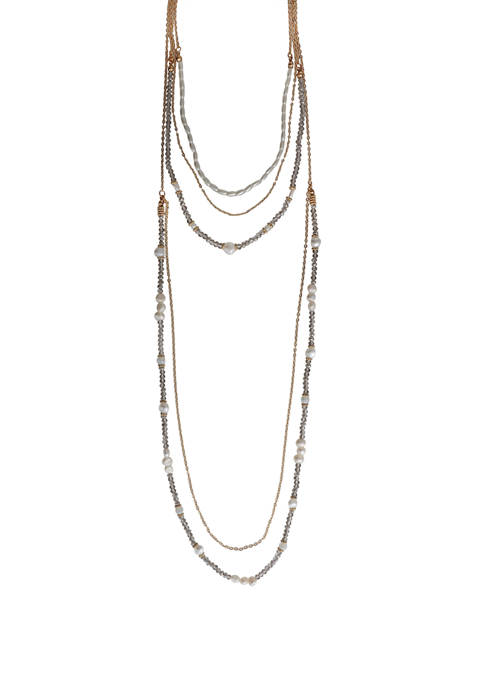 15 Inch 5 Row Layered Necklace