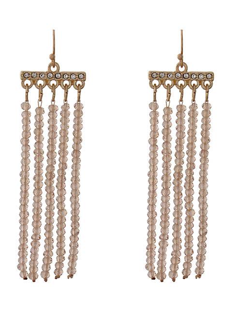 Kaari Blue™ Glass Tassel Drop Earrings