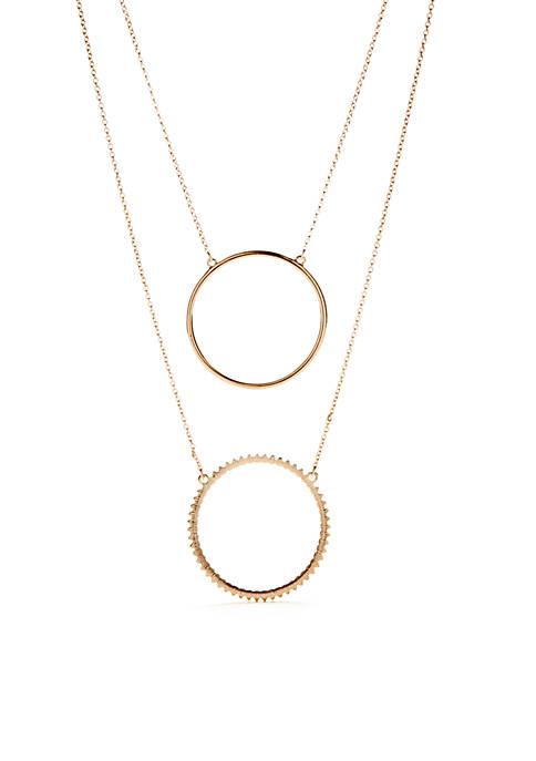 Kaari Blue™ Rose Gold-Tone Two Row Circle Pendant