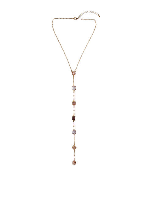 Kaari Blue™ Gold Tone Peach Y-Necklace