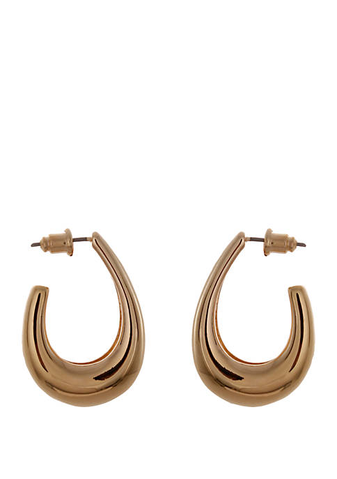 Kaari Blue™ Gold Tone Hoop Earrings