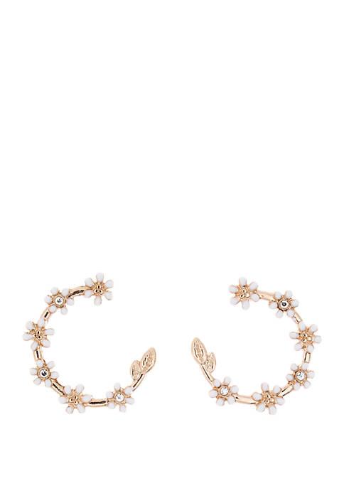 Kaari Blue™ Gold Tone Flower Crystal Earrings