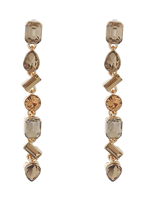 Kaari Blue™ Glass Stone Linear Earrings