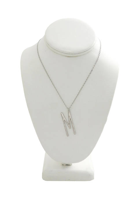 Kaari Blue™ M Pendant Silver-Tone Necklace