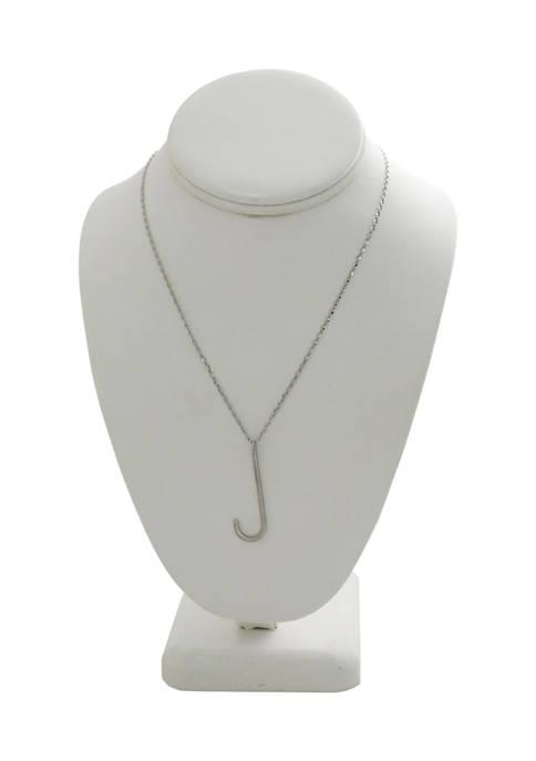 Kaari Blue™ J Silver Tone Pendant Necklace