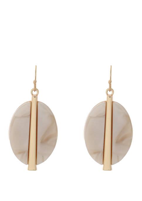 Lucite Metal Drop Earrings