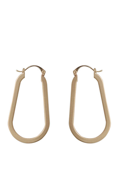 Kaari Blue™ Teardrop Hoop Gold Tone Earrings