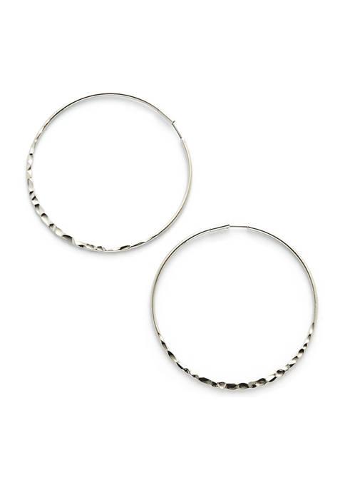 Kaari Blue™ Hammered Hoop Earrings