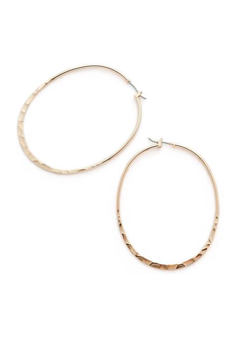 Belk Thin Hoop Earrings
