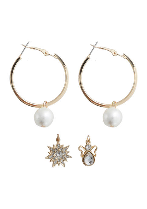 3 Piece Pearl Earring Set