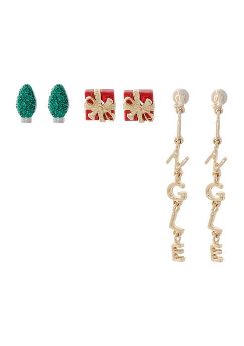 3 Piece Earring Set