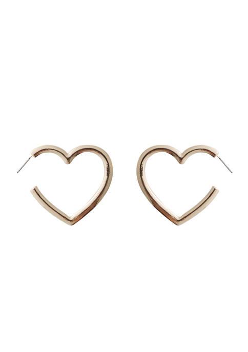 Crown & Ivy™ Large Heart Hoop