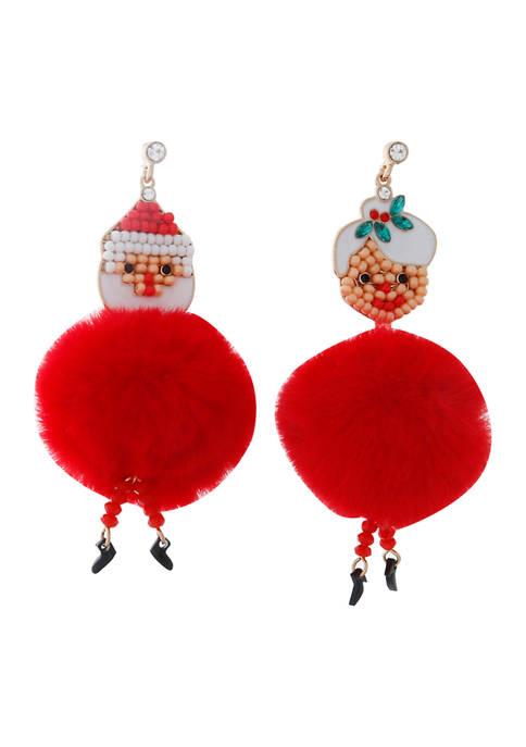 Santa Claus Drop Earrings