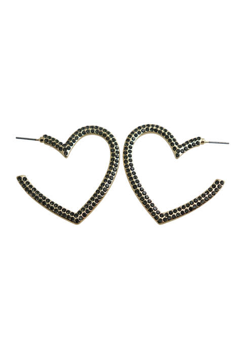 Kaari Blue™ Gold Tone Heart Hoop Earrings