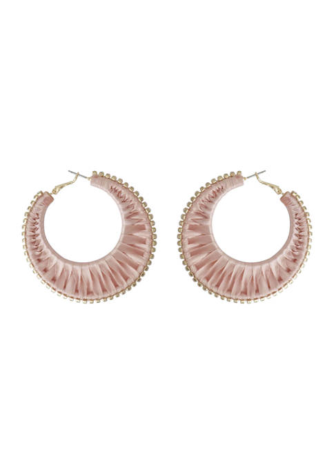 Kaari Blue™ Blush Gold Hoop Earrings