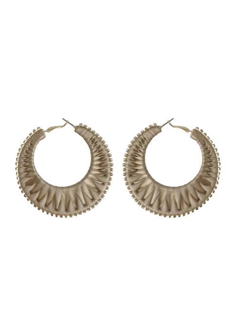 Kaari Blue™ Gold Tone Hoop Earrings
