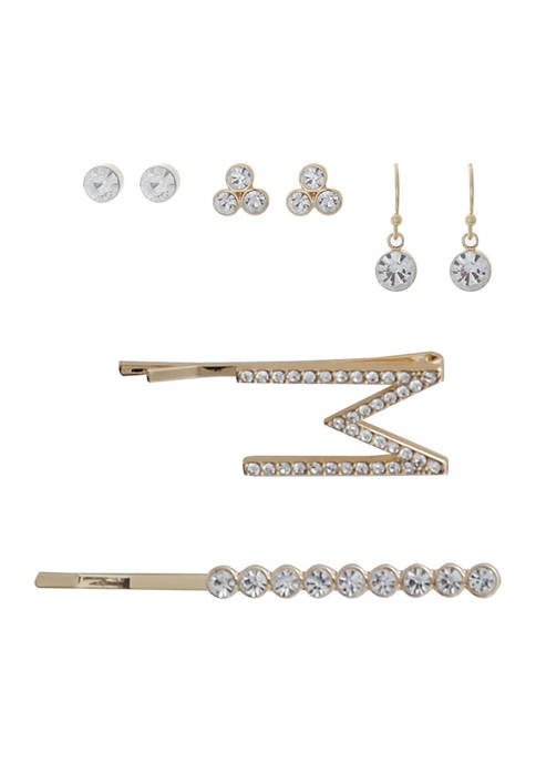 5 Piece Hairpin and Earring Set