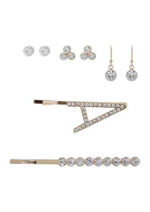 5 Piece Earring and Hairpin Set