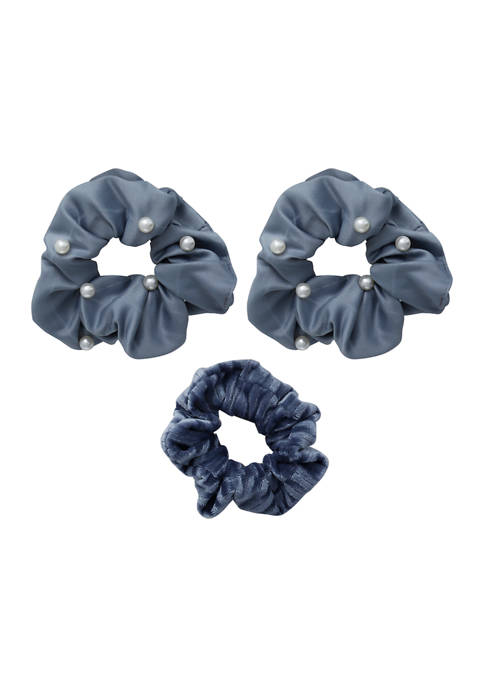Kaari Blue™ Set of 3 Blue Tone Scrunchies