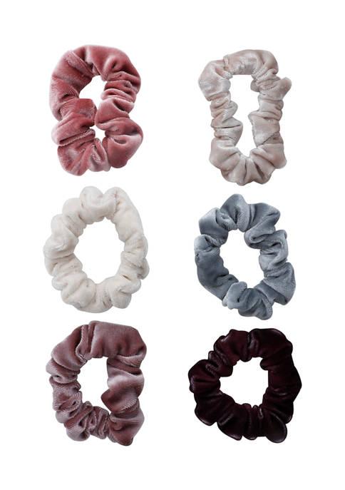 Set of 6 Neutral Tone Scrunchies
