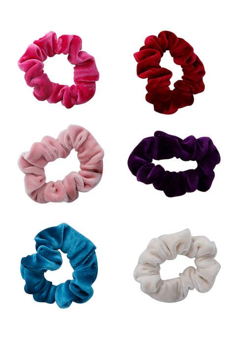Set of 6 Jewel Tone Scrunchies