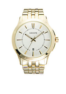 LEGION/CONCEPTS IN TIME Gold-Tone Calendar Display Watch