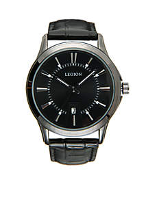 LEGION/CONCEPTS IN TIME Gunmetal Black Dial Watch