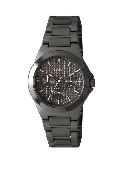 Legion Gunmetal Tone Textured Dial Bracelet Watch