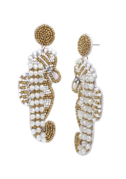Betsey Johnson Seahorse Drop Earrings