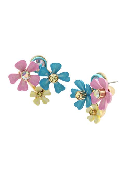 Betsey Johnson Flower Cluster Earrings