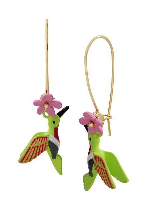 Betsey Johnson Hummingbird Dangle Earrings