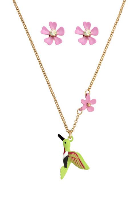 Hummingbird Jewelry Set