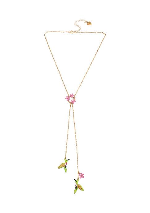 Betsey Johnson Hummingbird Bolo Necklace
