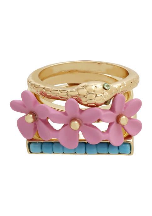 Flower Ring Set