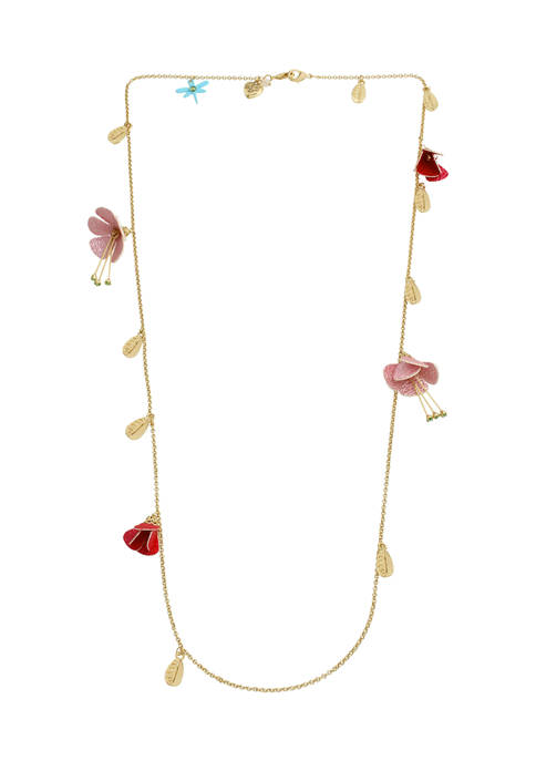 Betsey Johnson Flower Charm Mask Chain