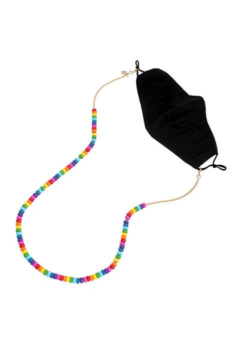 Rainbow Beaded Mask Chain