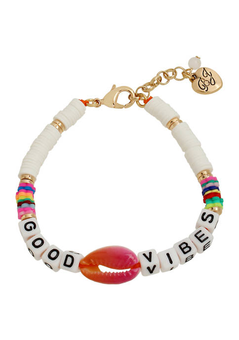 Betsey Johnson Good Vibes Bracelet