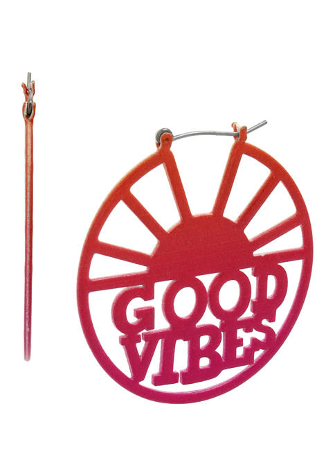 Good Vibes Hoop Earrings