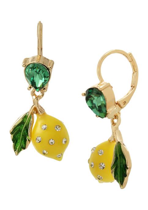 Betsey Johnson Lemon Drop Earrings