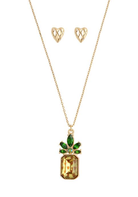 Pineapple Jewelry Set