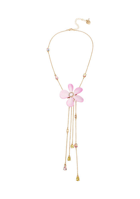 Flower Y-Necklace